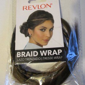 REVLON MEDIUM BROWN HAIR BRAID WRAP READY TO WEAR